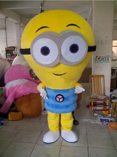 2017 new EMS ARRIVE yellow Light Bulb Fancy Dress Mascot Costume Adult Character Cosplay mascot costume
