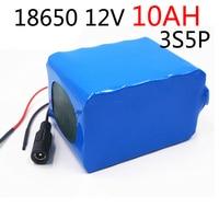 laudation 12V 10ah Battery 100% New High Capacity Protection 11.1V 12V Lithium Rechargeable Battery 12V 10000mAh Capacity Hot