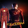 Express! CGCOS Cosplay Costume The Flash Season II 2 Game Cos Barry Allen Jacket Superhero Uniform Custom Made without Shoes