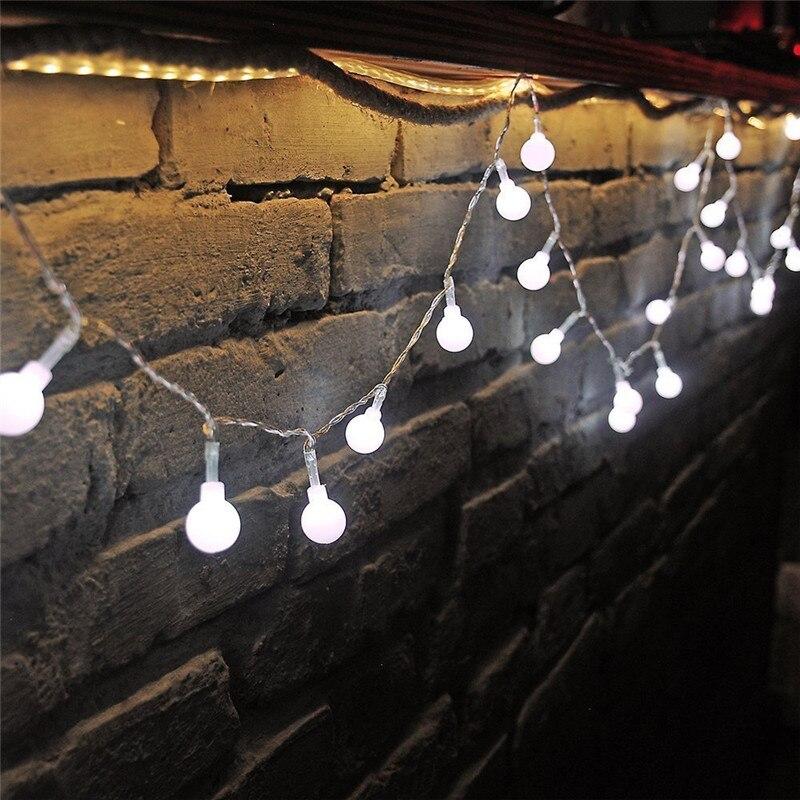 7.5M 50 LEDs 110V 220V IP44 Outdoor Multicolor LED String Lights Christmas Lights Holiday Wedding party decoration Luces LED