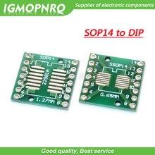 Placa de transferência tssop14 ssop14 sop14 para dip14, adaptador de placa de entrada TSSOP-14 SSOP-14 sop-14 tto com 10 peças dip-14