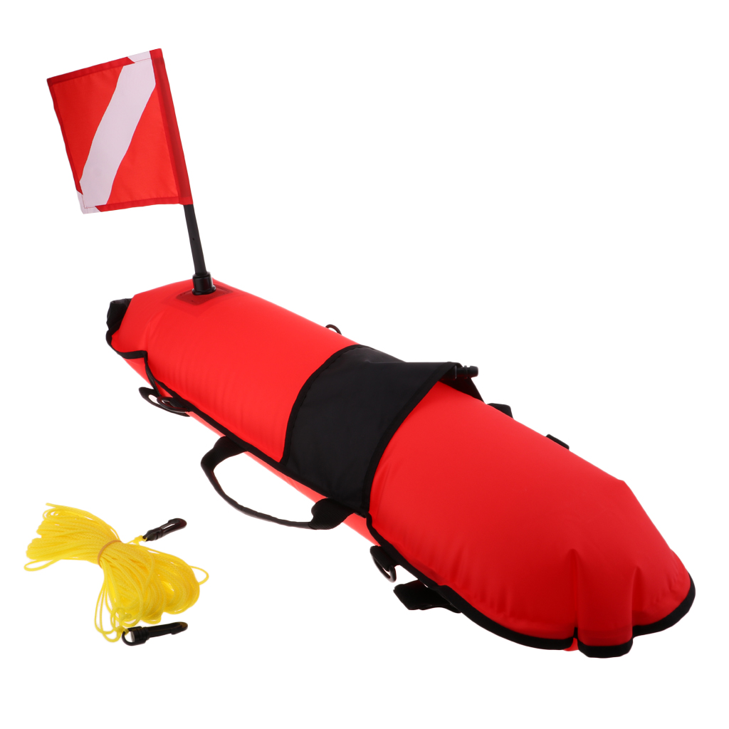 EVA Diving Floating Mat Water Surface Marker Inflatable Diving Buoy With Flag & Rope For Swimming Diving Pool Kayak Boat
