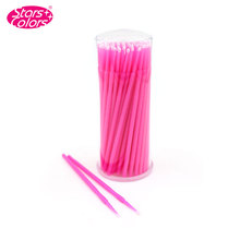 New False Eye lash Extension MicroBrush 100pcs Round Cotton Stick Makeup Remover