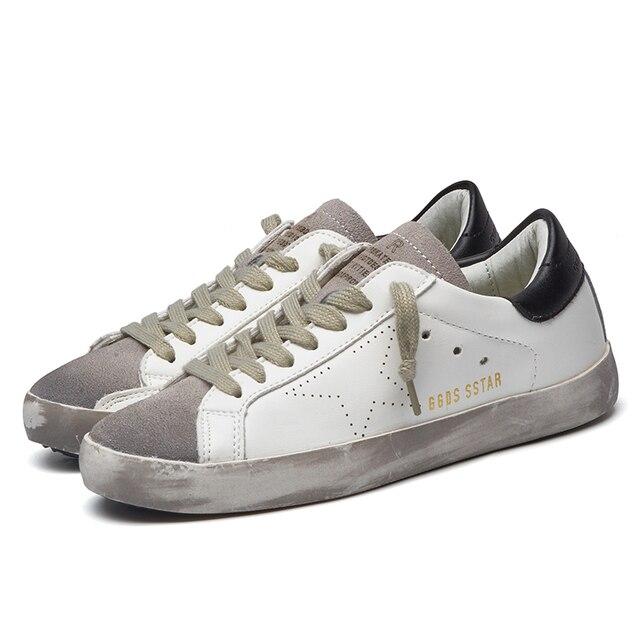Новые Марка Дизайнер 2016 Италия Золотой Натуральная кожа Повседневная Мужская Обувь Гуся Все Звезды Спорта Дышать Обувь Zapatillas кросовки женские кросовки мужские женская обувь мужская обувь обувь женская