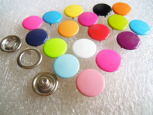 Mixed Boton Coloful Capped Cover Button 1000sets Metal Buttons Sewing Scrapbooking 11MM цена