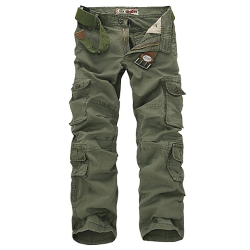 Fashion Military Cargo Pants Meeste lahtised Baggy Tactical Püksid Oustdoor Casual Cotton Cargo Püksid Men Multi-taskud Suur suurus