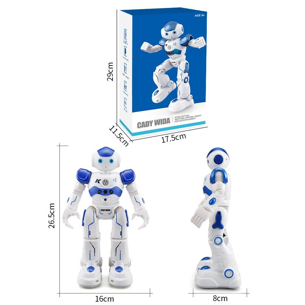 Fansaco Intelligent Voice Robot Dancing Toy Gesture Control RC Robot Action Figure Programming Birthday Gift For Kids Children