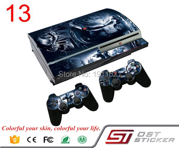 For Ps3 Fat skin Slim Game Decal Skin Stickers For Playstation 3 Console 2Pcs Stickers For PS3 Controller