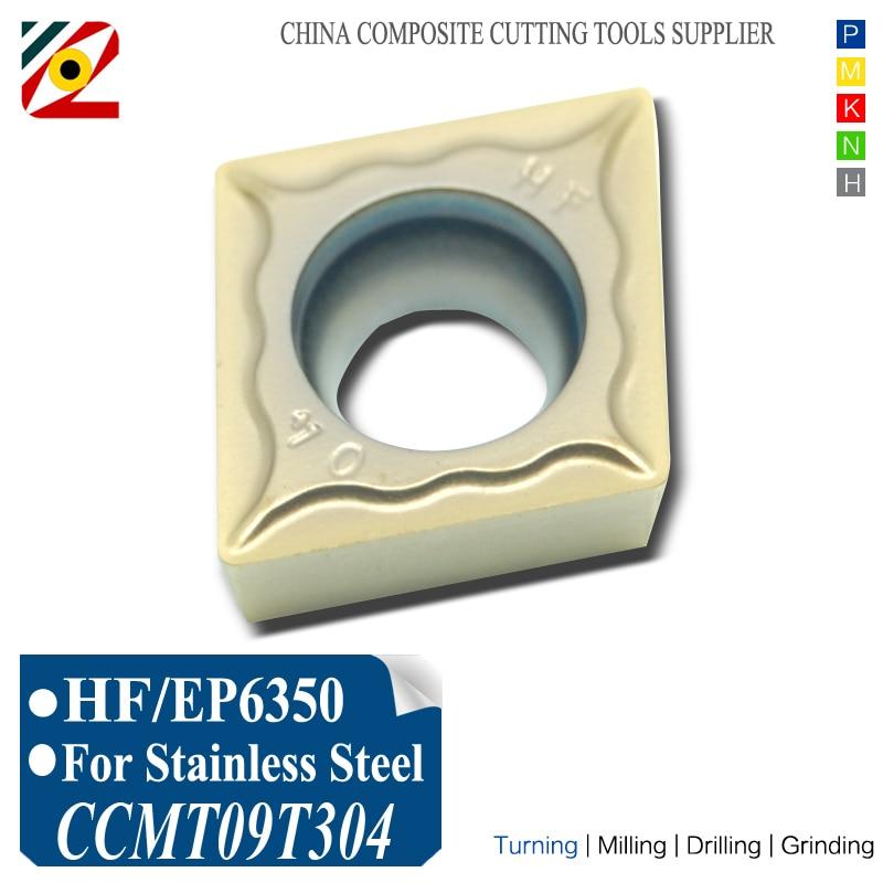 EDGEV 10PCS Inserti in metallo duro 10PCS CCMT09T302 CCMT09T304 CCMT3251 Utensili di tornitura noiosi Acciaio inossidabile tungsteno SS