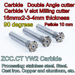 Image 1 - 16mmx2 3 4mm thickness x 90 degrees Petiole 10 mm ZCC.CT YW2 Carbide Double Angle cutter Processing: stainless steel. Steel etc.