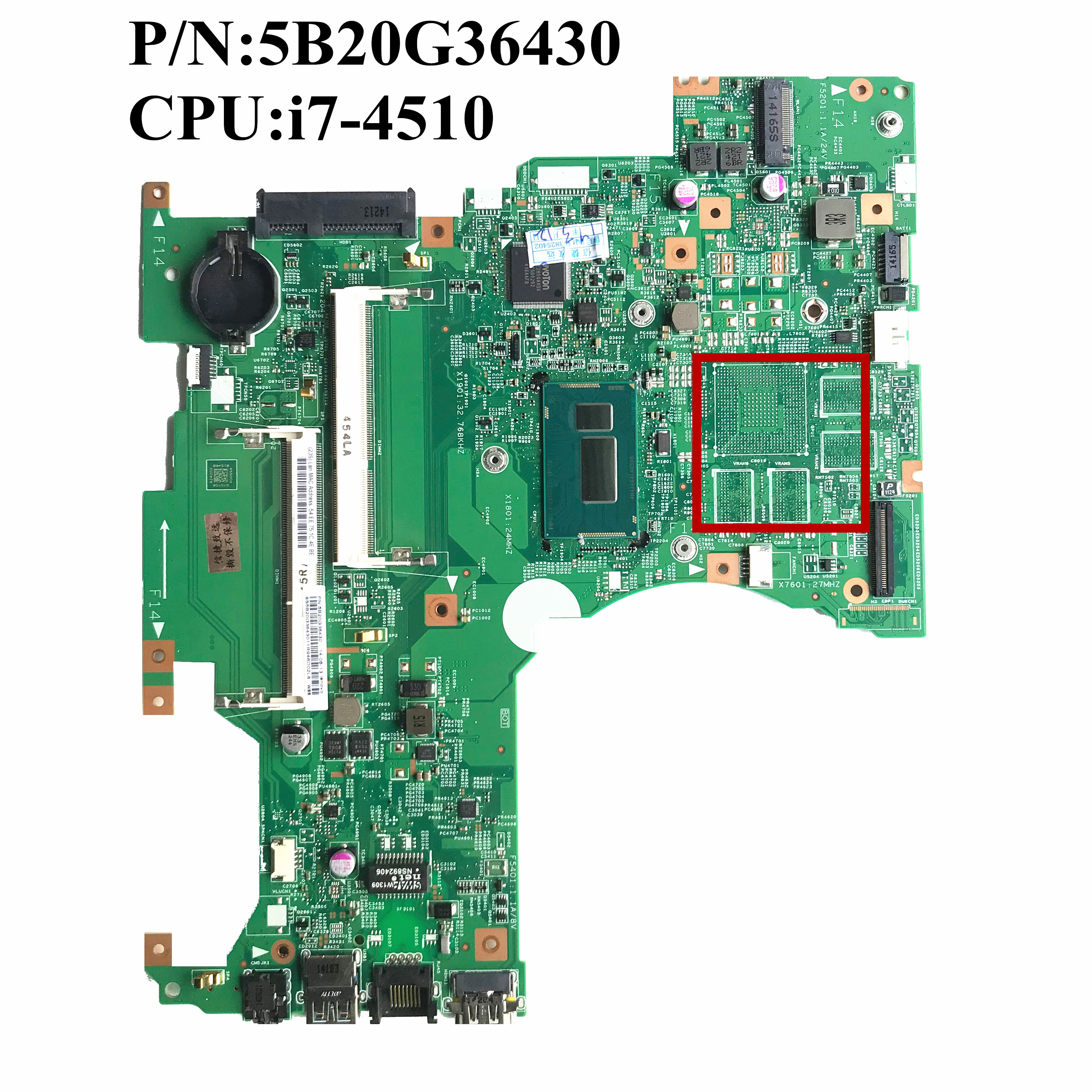 For Lenovo Flex 2 14 Laptop Motherboard With i7 4510U CPU 5B20G36430 448 00X01 0011 13281