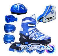 Hot!Children Roller Skating Shoes S/M/L Roller Skate Shoes Adjustable Road Sliding/Slalom Inline Skates Shoes+Protective+Bag
