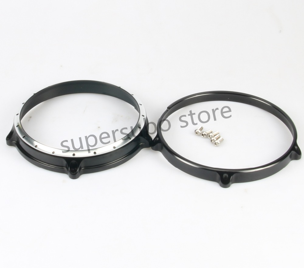 Motorcycle 7 Headlight Lamp Bezel Trim Ring For Harley Touring Electra Street Tri Glide  R Nine T 2014-2016 Scrambler 16 7 motorcycle headlight lenses for harley touring softail fat boy the headlight lenses headlight glass