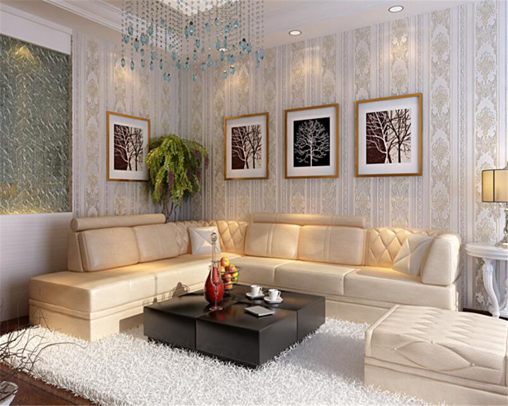 beibehang  yet European non woven wallpaper 3D living room warm bedroom AB with sofa TV background wallpaper papel de parede beibehang thick version of the vertical striped wallpaper warm living room bedroom pastoral non woven tv background wallpaper
