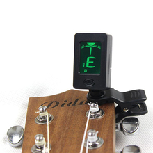Electrical Clip-on LCD Display Guitar Tuner 360 Degree Reversible Clip Tuner for Guitar Chromatic Bass Violin Ukulele Tune