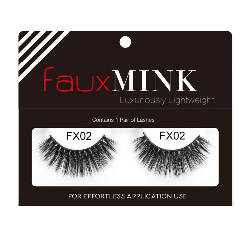New Fake Eye Lashes Natural Long Thicker Reusable False Eyelashes Handmade No Glue Eye L ...