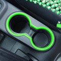 Зеленый Chrome ABS Автомобилей Центр Передней Панели Консоли Подстаканник Крышка Накладка Для Jeep Wrangler JK 2011-2016