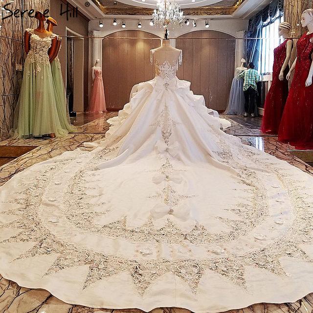 Pearls Lace Wedding Dresses Fashion