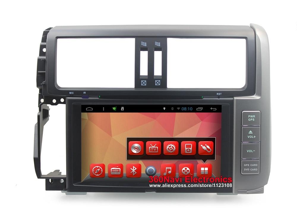 Quad Core Android 6.0 Voiture DVD GPS pour Toyota Prado 150 2010-2013 Autoradio GPS avec BT Radio RDS wifi Miroir-lien 8 gb carte carte