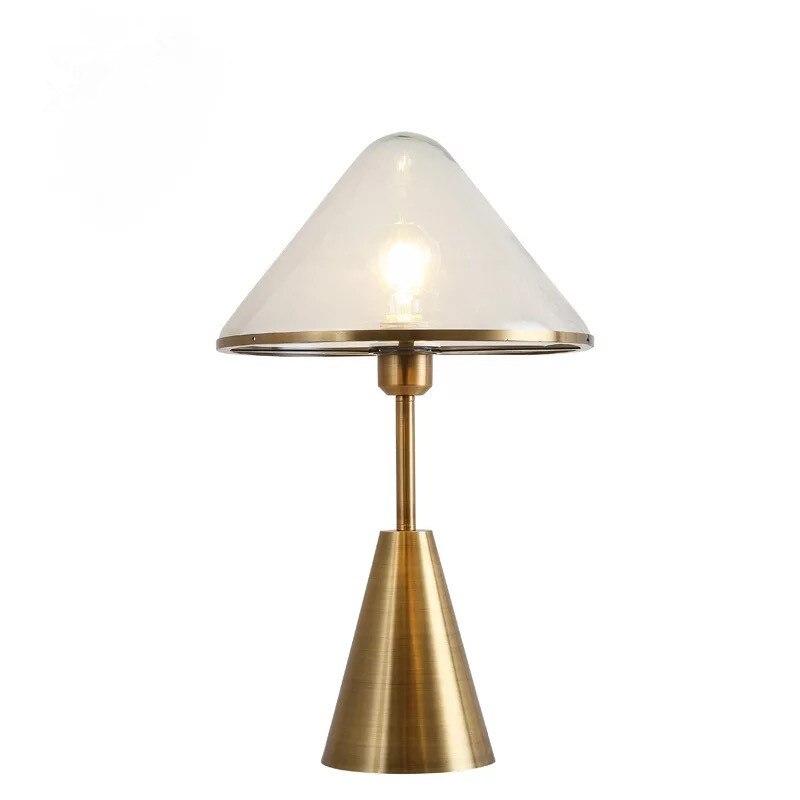 2019 новые творческие прозрачный стеклянный плафон светодиодный настольная лампа кровать лампа прикроватная Art Декор для дома лампа фойе укр... - 3