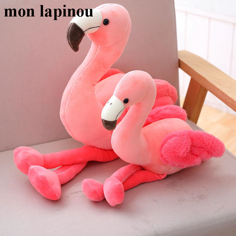 Mon Lapinou 1 Pc 25cm 35cm 50cm Plush Flamingo Toys Stuffed Bird Soft Doll Pink Flamingo Kids Toys Wedding Gift High Quality