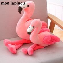 Mon Lapinou 1 pc 25cm 35cm 50cm Plush Flamingo Toys Stuffed Bird Soft Doll Pink Flamingo Kids Toys Wedding Gift High Quality