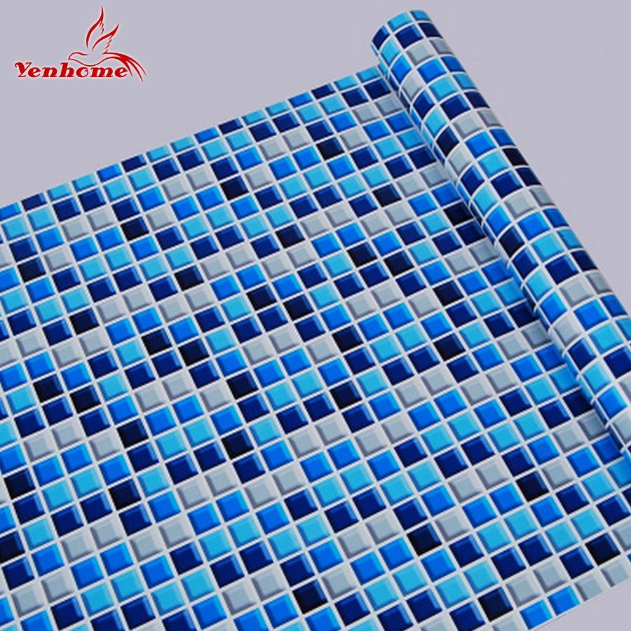 10 m cocina ba o pvc mosaico autoadhesivo papel pintado para dormitorio ladrillo papel de pared - Papel para bano ...