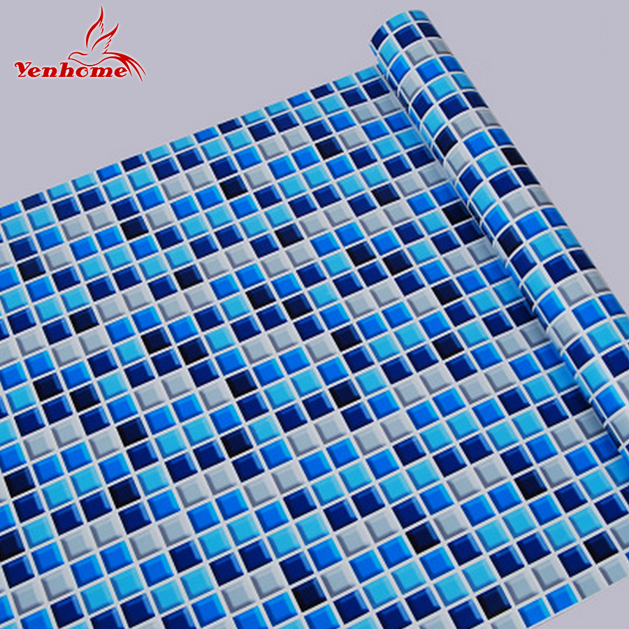 10M Kitchen Bathroom PVC Tiles Mosaic Self Adhesive Wallpaper for ...
