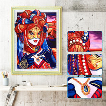 5D  Diamond Painting Cartoon Animal Character Pattern Special Shape Cross Embroidery Home Decoration