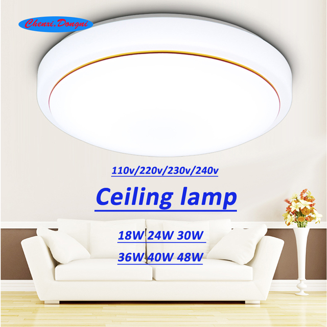 Teto levou lâmpadas de iluminação moderno quarto lâmpada sala de estar varanda montagem em superfície 36 30 24 18 w w w w 40 w 48 w AC85V-260 v teto