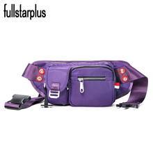 2016 New Women 4 Colors Bags Imported nylon waterproof waist Girls bags travel belt wallets buckle