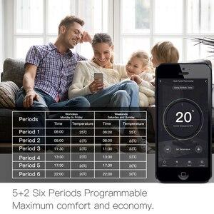 Image 5 - WiFi akıllı termostat sıcaklık kontrolörü/elektrikli yerden ısıtma su/gaz kazanı Alexa Google ev ile çalışır