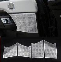 Для Land Rover Discovery 5 LR5 2017 2018 автомобиль Стайлинг Алюминий сплава двери автомобиля Динамик крышка отделка аксессуары 4 шт.