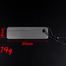 Small Fine Fish Hook Hone Hook Sharper Tool Diamond Grid Key Chain Hook Sharping Tool for Fly / Carp Fishing Knife Honer Polish