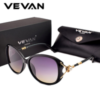 a1638af59a66e2 VEVAN Luxury Polarized Sunglasses Women Brand Designer Sun Glasses 2018 lunette  de soleil femme Pearl oculos
