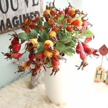 Simulation Pomegranate Fruit Artificial Plant Branch Rose Flowers Berry Home Wedding Party Desktop Decoration Photography Props simulation plastic rod artificial flowers bouquet home wedding indoor decoration plant photography plant wall props