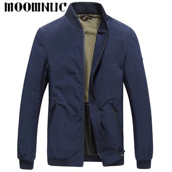 Solid color Jacket Casual Fashion MOOWNUC Classic style MWC Youth Men Coat Hot Sale Autumn Gentleman Wind proof Baseball collar