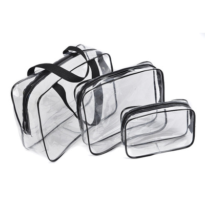 Transparent PVC Bags Travel Organizer Clear Makeup Bag Beautician Cosmetic Bag Beauty Case Toiletry Bag Make Up Pouch Wash Bags(China)