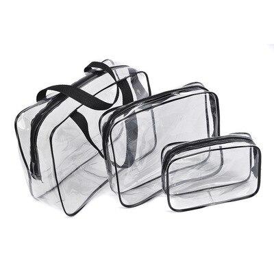 Прозрачные ПВХ Чехлы органайзер для путешествий прозрачная сумка для макияжа косметичка