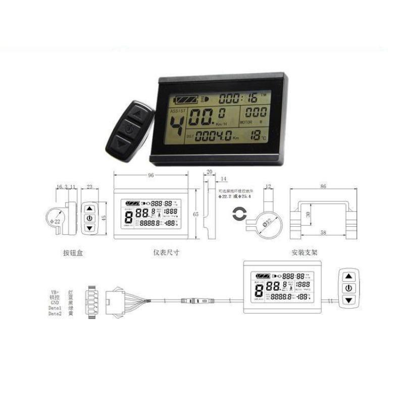 Free Shipping Kt Lcd3 Intelligent Lcd Display For 24v 36v 48v Kt Controller
