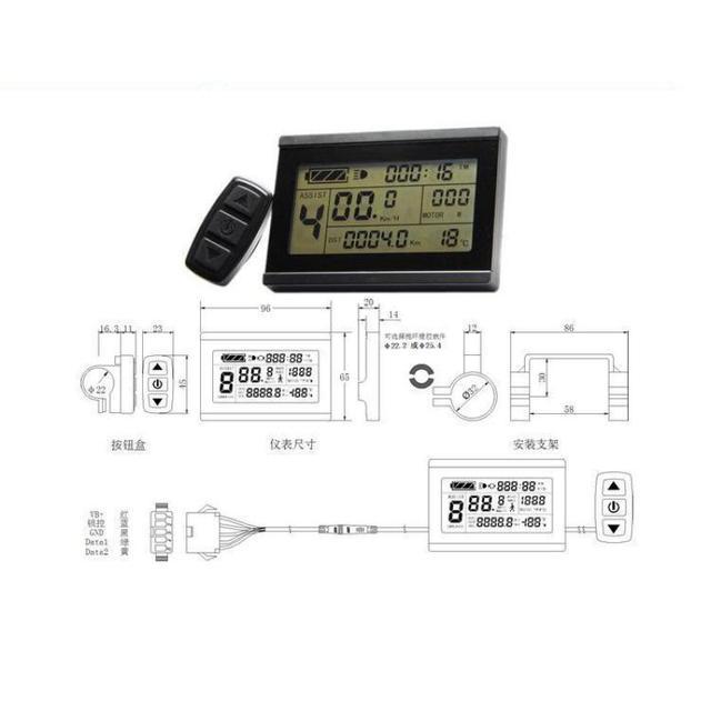 Free Shipping Kt- Lcd3 Intelligent Lcd Display For 24v 36v 48v Kt Controller