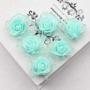 Image 4 - 20ピース造花pe発泡レースローズため結婚式の装飾diyスクラップブッキング手作りクラフトアクセサリー花輪花