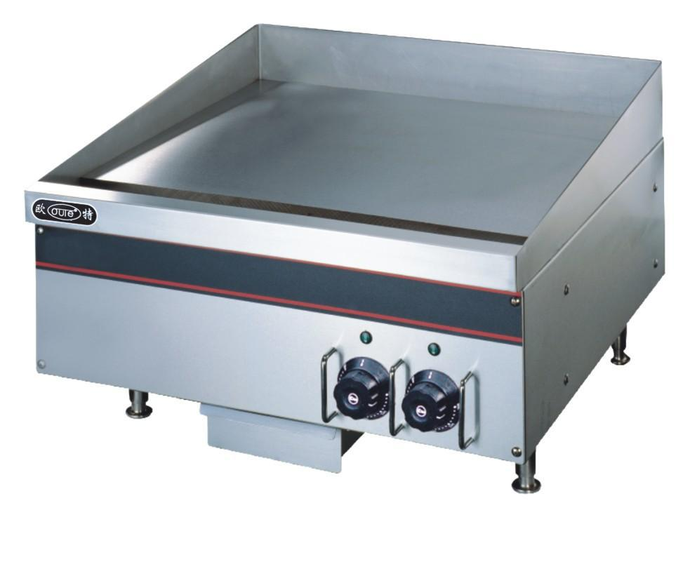 Super Quality Stainless Steel Restaurant Hotel Desktop Flat Eletric Griddle Catering Equipment 220v Frying Food Supplier