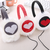 Music Earmuffs Winter Headphones Ear Muff Headphones Plush Warm Ear Warmer Soft Head Warmer Women Ear