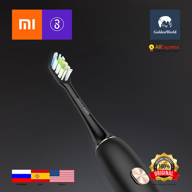 Xiaomi Original SOOCAS Toothbrush X3 Platinum Edition Black Ecological chain adult charging sonic vibration automatic GW soocas x3 sonic electric toothbrush
