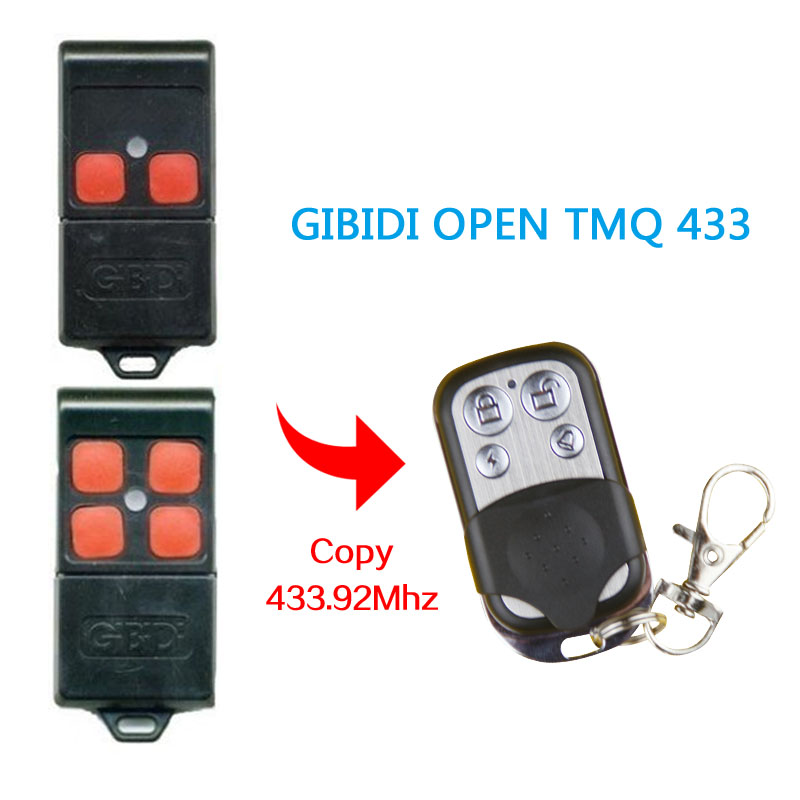 Copy GIBIDI OPEN TMQ433 remote control high quality 433.92MHz Electric garage door remote control