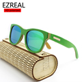 EZREAL Новые деревянные бамбука Солнцезащитные Очки лето Очки Очки с поляризованными линзы древесины солнцезащитные очки бесплатная доставка