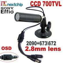 HQCAM 700TVL SONY 673 \ 672 + Nextchip 2090 osd menu mini Bullet camera mini ccd Outdoor Waterdichte CCTV Security camera 960 H DVR