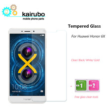 (3PCS/LOT) Huawei Honor 6X Tempered Glass Screen Protector Amazing H Nanometer Anti-Explosion 9H glass protective Film