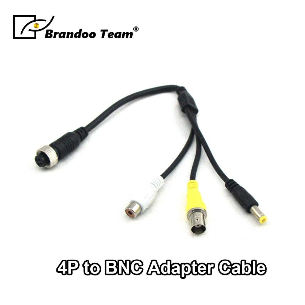4 stücke Luftfahrt zu BNC + RCA + DC stecker, für AUTO DVR zu Auto kamera